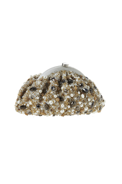 Shoptiques Product: Ivory Pearl Gold Clutch