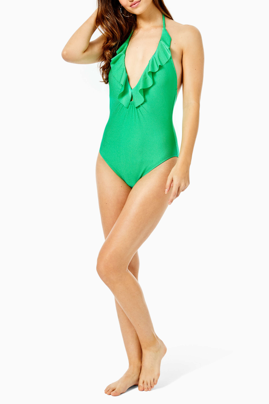Lilly Pulitzer  Santiana One-Piece Swimsuit - Side Cropped Image