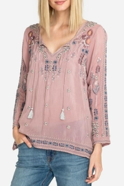 Johnny Was Santorini Embroidered Blouse - Product Mini Image