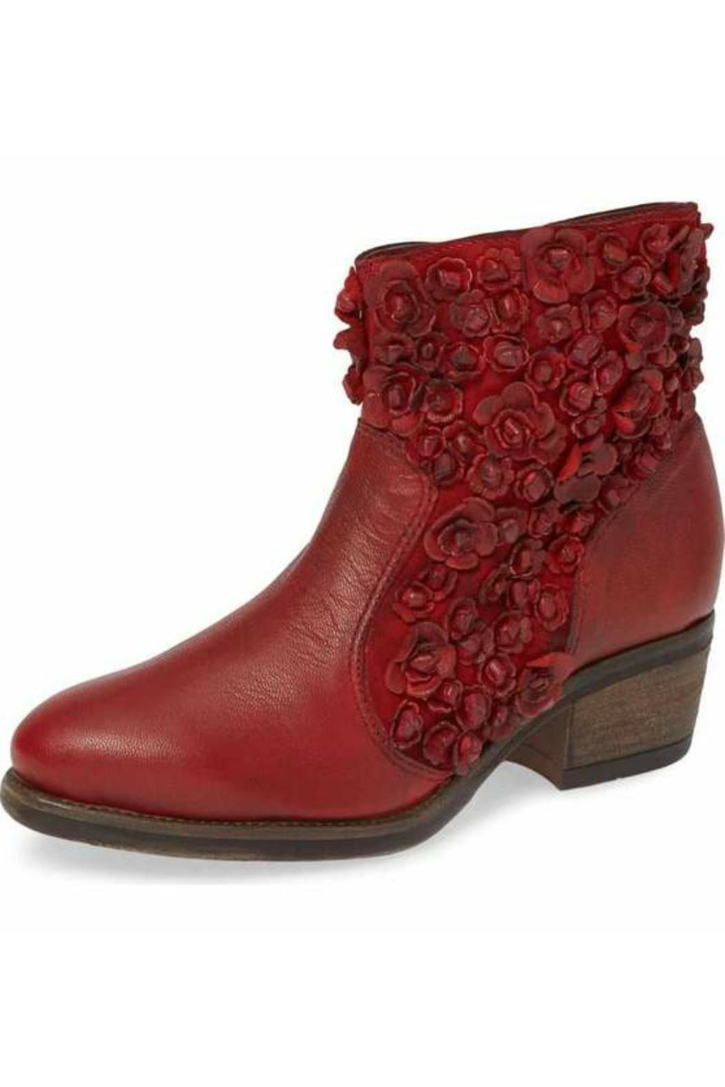 Sheridan Mia Saphire Red Bootie - Front Cropped Image