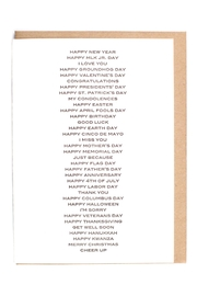 Sapling Press All Purpose Card - Front cropped