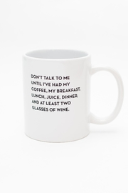 Sapling Press Don't Talk Mug - Product Mini Image
