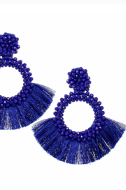US Jewelry House Sapphire Beaded Earrings - Product Mini Image