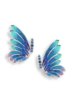 Nicole Barr Sapphire Butterfly Earrings - Product List Image