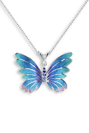 Nicole Barr Sapphire Butterfly Necklace - Product Mini Image