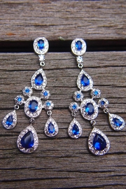 Wild Lilies Jewelry  Sapphire Chandelier Earrings - Product Mini Image