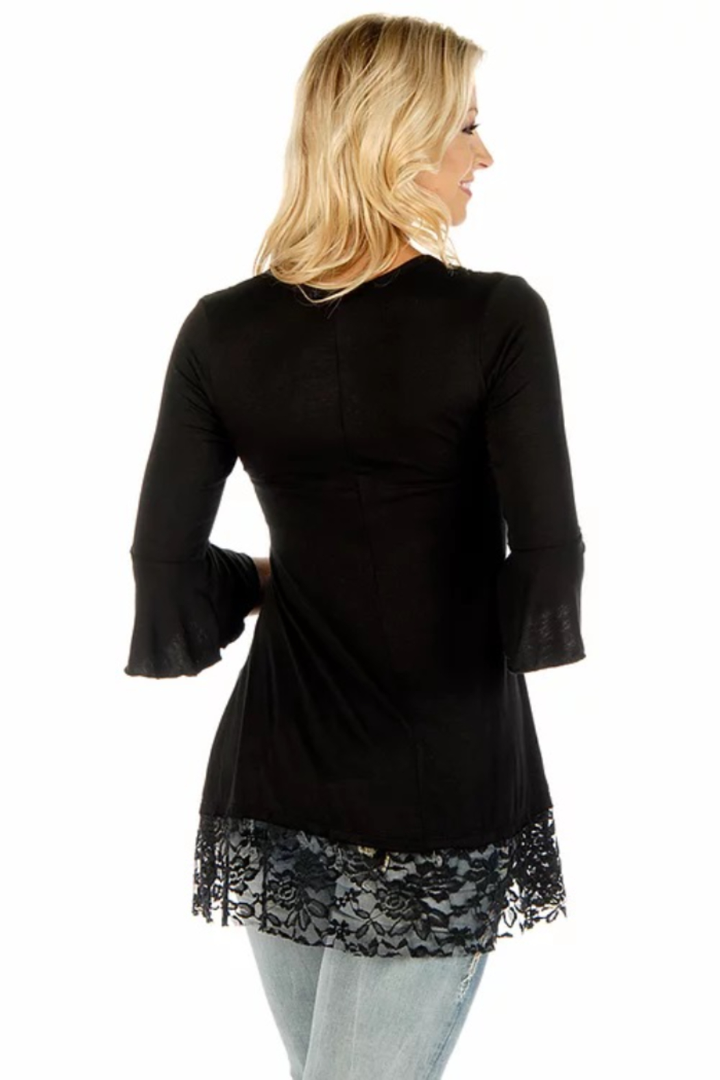 Liberty Wear Sapphire Embroidered Tunic - Front Full Image