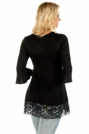 Liberty Wear Sapphire Embroidered Tunic - Front full body