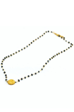 Slate Gray Gallery Sapphire Gold Necklace - Product List Image