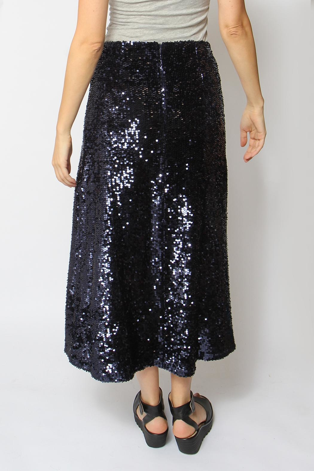 Just Female Sapphire Sequin Skirt - Back Cropped Image