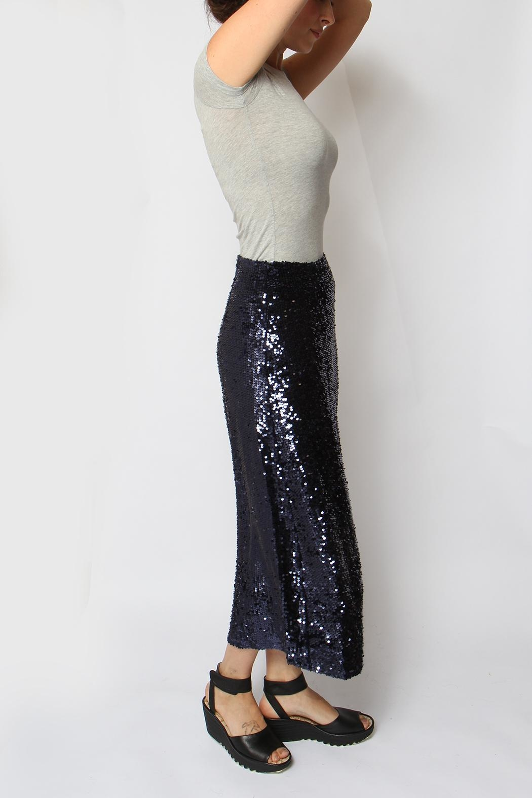 Just Female Sapphire Sequin Skirt - Side Cropped Image