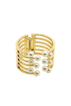 Sapphire Sky Pearled Grid Cuff - Product List Image