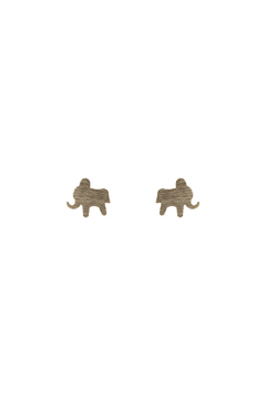 Sapphire Sky private label Brass Elephant Earring - Alternate List Image