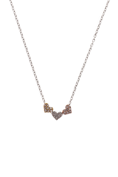 Sapphire Sky private label Silver Tri Heart Necklace - Product List Image