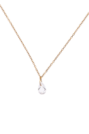 Sapphire Sky private label Gold Crystal Drop Necklace - Product Mini Image