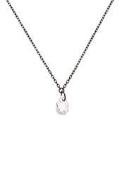 Sapphire Sky private label Black Crystal Drop Necklace - Product Mini Image