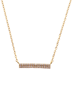 Sapphire Sky private label Gold Double Row Bar Necklace - Product List Image