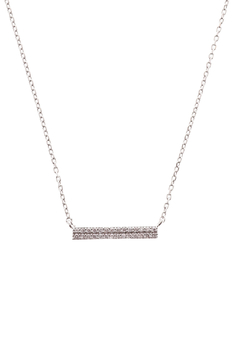 Sapphire Sky private label Silver Double Row Bar Necklace - Product List Image