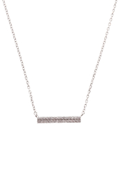 Sapphire Sky private label Silver Double Row Bar Necklace - Product Mini Image