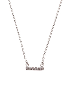 Sapphire Sky private label Silver Chain & Pave Bar Necklace - Product List Image