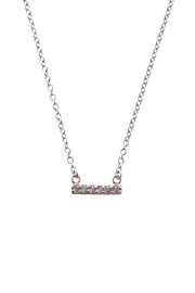 Sapphire Sky private label Silver Chain & Pave Bar Necklace - Product Mini Image