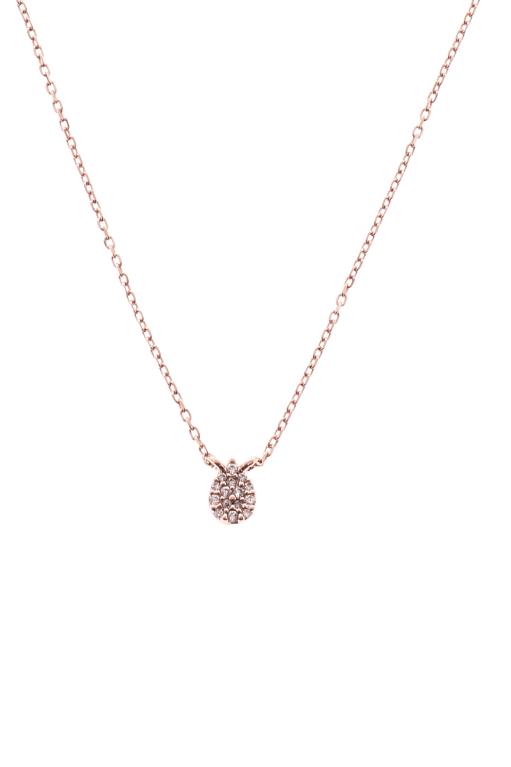 Sapphire Sky private label Gold Pave Drop Necklace - Main Image