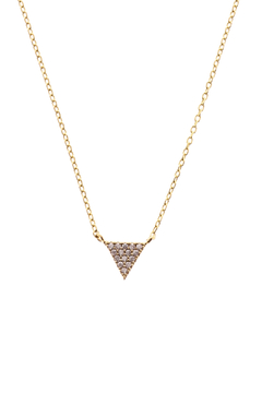 Shoptiques Product: Gold Pave Triangle Necklace