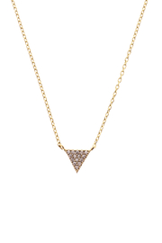 Sapphire Sky private label Gold Pave Triangle Necklace - Product Mini Image