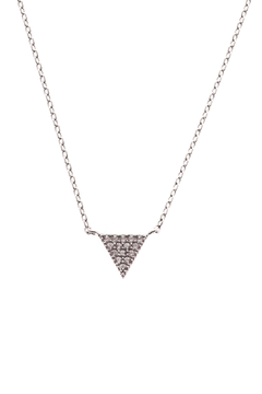 Shoptiques Product: Silver Pave Triangle Necklace