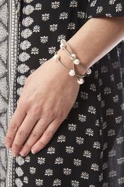 Sapphire Sky private label Pearl Wrap Bracelet - Back cropped