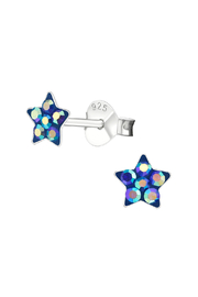 Silver Jewels Sapphire Star Silver Stud Earrings - Product Mini Image