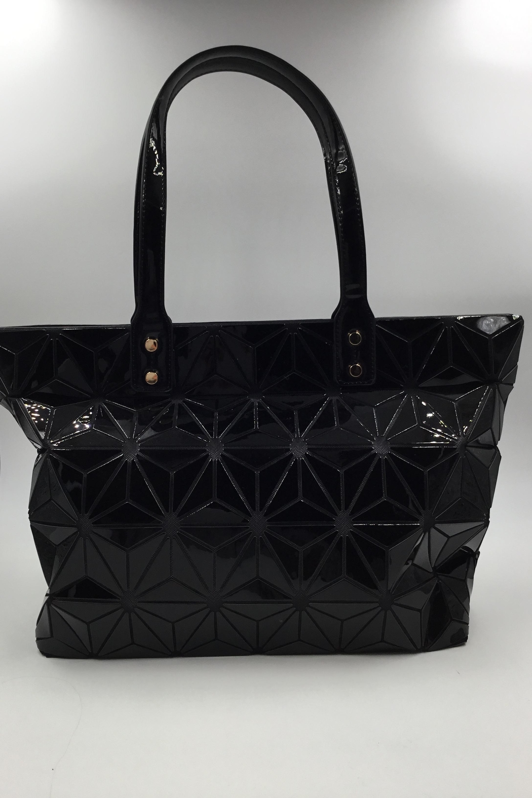 Sapphire Sky private label Black Patent Tote - Main Image