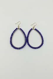 Sapphire Sky private label Blue Beaded Hoop - Product Mini Image