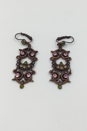 Sapphire Sky private label Copper Pink-Crystal Earrings - Product Mini Image