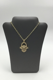 Sapphire Sky private label Gold Hamsa Necklace - Product Mini Image