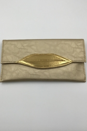 Sapphire Sky private label Gold-Lip Envelope Clutch - Front cropped
