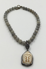 Sapphire Sky private label Labradorite-Beads Crystal-Buddha Necklace - Product Mini Image