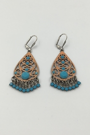 Sapphire Sky private label Peach&Turquoise Dangling Earring - Product Mini Image