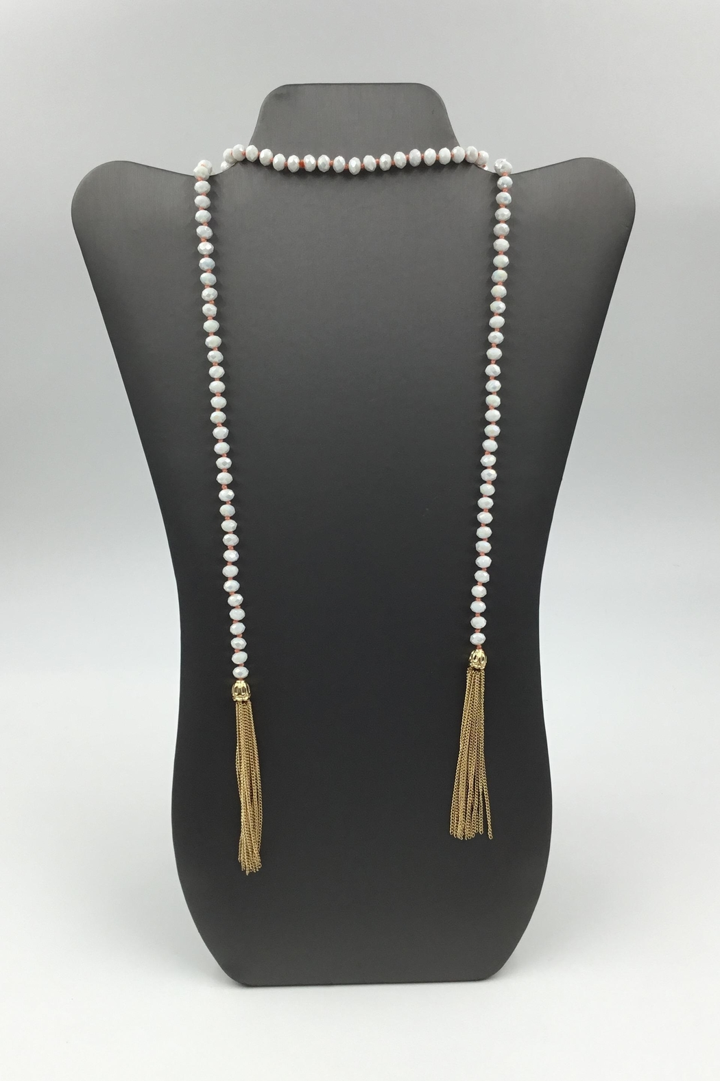 Sapphire Sky private label Shimmer-Bead Tassel Necklace - Main Image