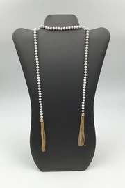 Sapphire Sky private label Shimmer-Bead Tassel Necklace - Front cropped
