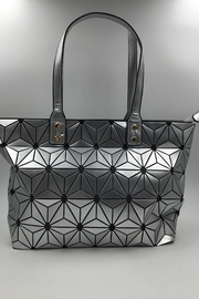 Sapphire Sky private label Silver Patent Tote - Front cropped