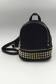 Sapphire Sky private label Vegan Black-Leather Mini-Backpack - Product Mini Image