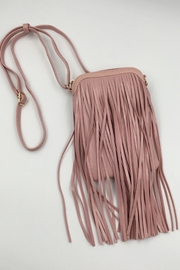 Sapphire Sky private label Vegan Leather Pink Bag - Front cropped