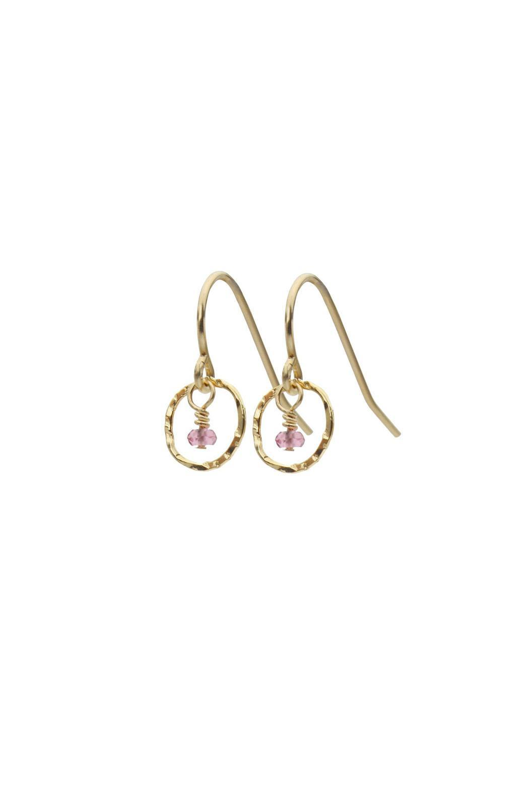 Sara Danielle Tiny Tourmaline Earrings from Oregon by