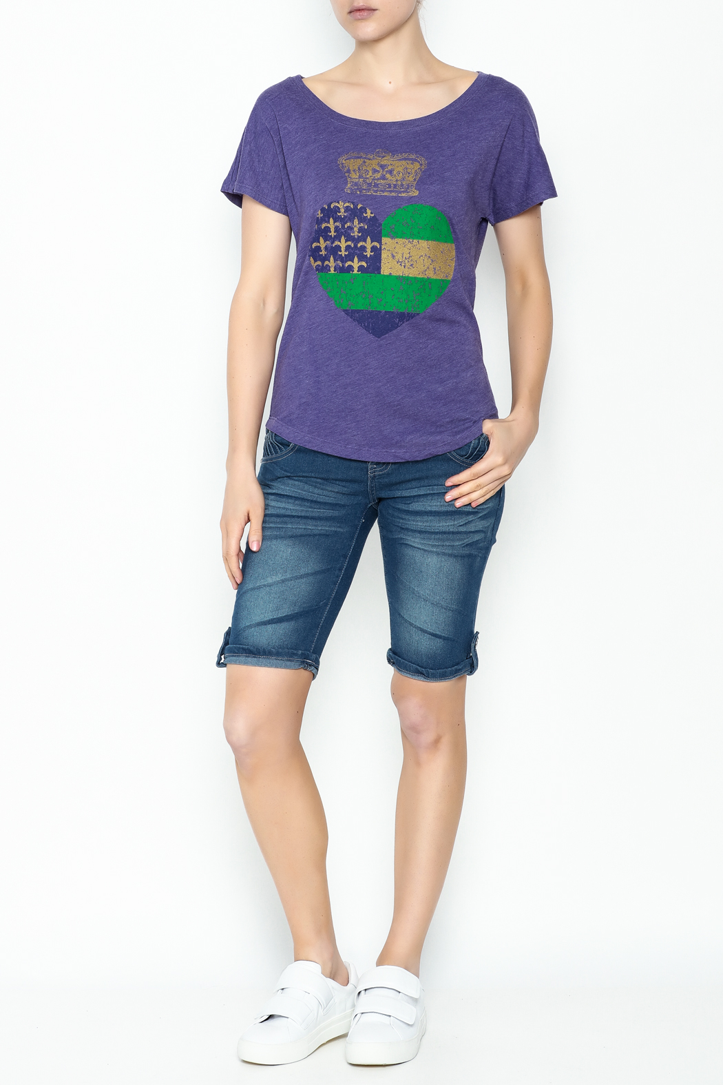 Sarah Ott Heart Crown Dolman Tee - Side Cropped Image