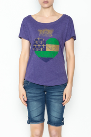 Sarah Ott Heart Crown Dolman Tee - Front full body