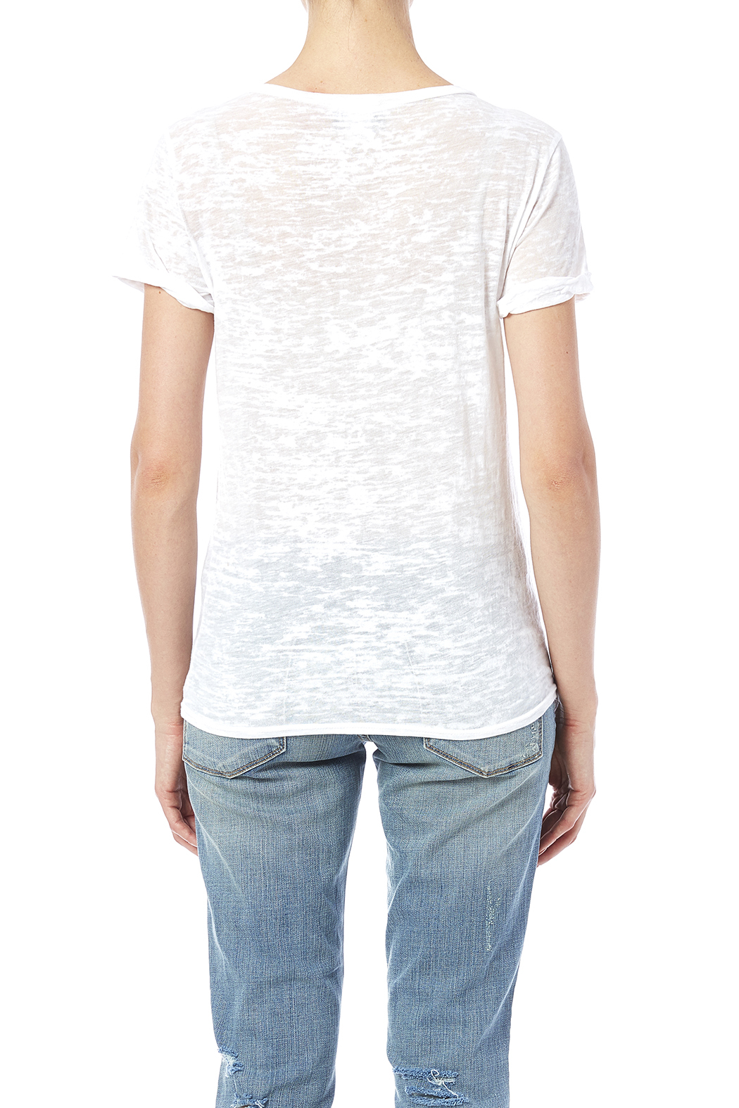 Blank Bella + Canvas Up All Night Tee - Back Cropped Image