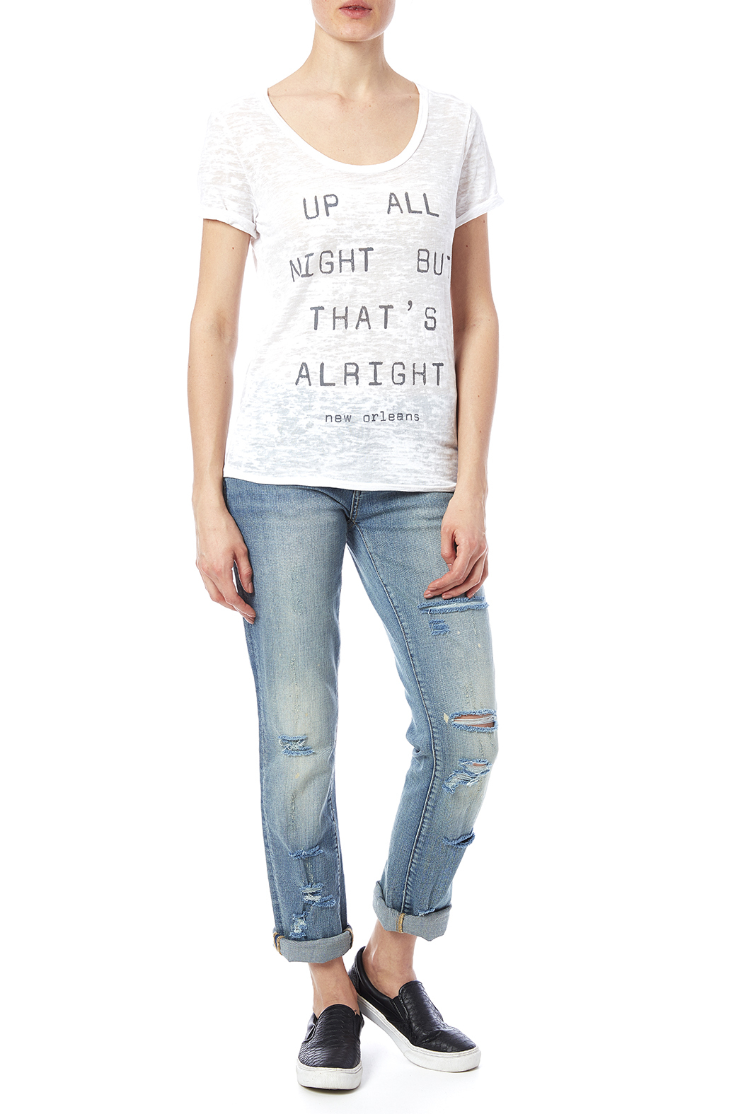 Blank Bella + Canvas Up All Night Tee - Front Full Image