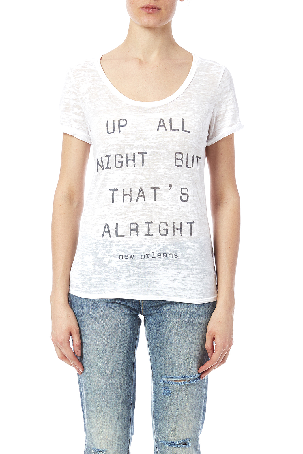 Blank Bella + Canvas Up All Night Tee - Side Cropped Image