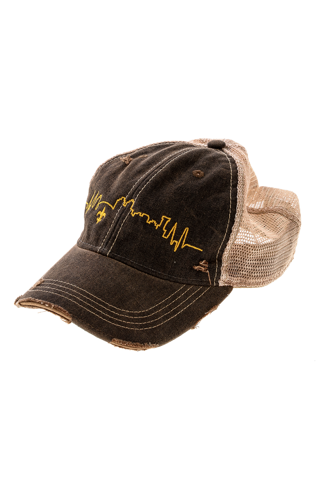 Sarah Ott Nola Skyline Truckers Hat - Front Cropped Image